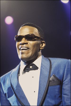 Jamie Foxx mouthed Ray Charles classics in the musical biographical drama 'Ray.'