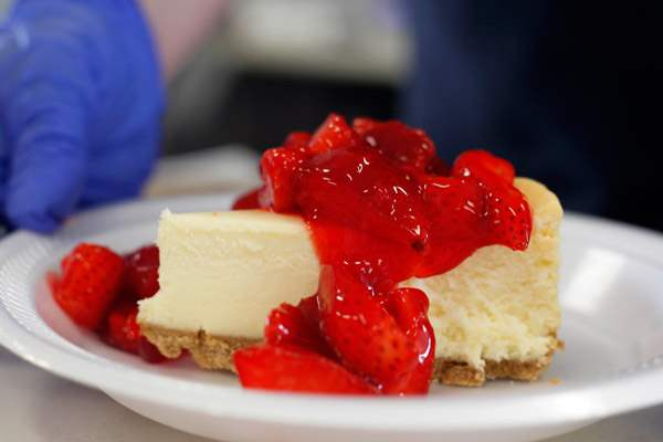 Cheesecake-with-strawberries-was-one-of-many-treats-available