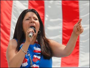 Lucas County Auditor Anita Lopez, a candidate for Toledo Mayor, speaks.