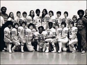 The Toledo Troopers, shown in a 1976 team photograph, won seven consecutive national championships from 1971 through 1977 and often shut out its opponents, winning games by 30 to 40-point margins.