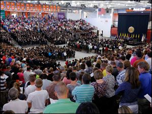The Stroh Center is packed during the Buckeye Boys State Ecumenical Church Service and graduation ceremony.
