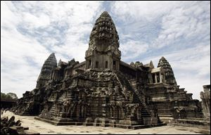 Cambodia's famed Angkor Wat temples complex stands in Siem Reap province, some 143 miles northwest Phnom Penh, Cambodia.