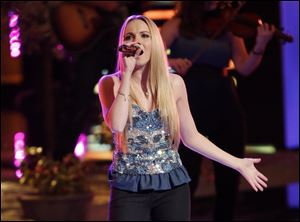 Danielle Bradbery performing on the singing competition series