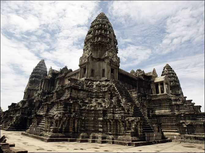 Ancient Cambodia Cambodia's famed Angkor Wat temples complex stands in Siem Reap province, some 143 miles northwest Phnom Penh, Cambodia.