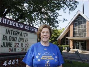 Devorah Shulamit, 71, at Grace Lutheran Church on Monroe Street in Toledo, Ohio.