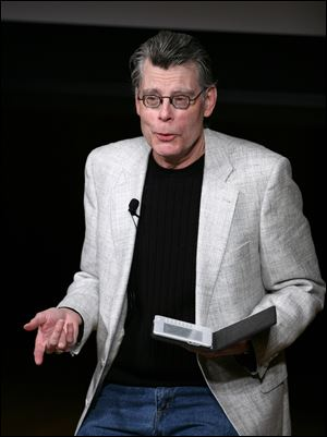 "Author Stephen King reads from his latest book ""Ur""."