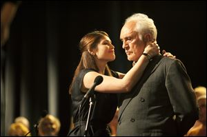 Gemma Arterton, left, and Terence Stamp in a scene from the film, 'Unfinished Song.' 'Unfinished Song' opens this weekend in the United States.