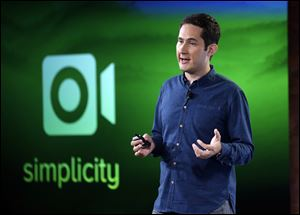 Instagram founder Kevin Systrom talks about an added video feature to the Instagram program at Facebook headquarters in Menlo Park, Calif., Thursday.