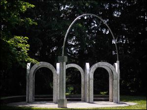 'Small Park with Arches' by Alice Adams.