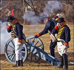 Re-enactors open fire at the River Raisin National Battlefield Park. More of that is promised at four Weapon Demo Days.