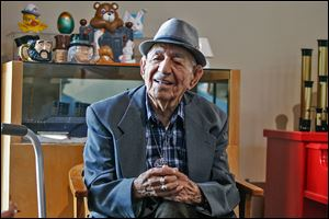Juan Rios celebrated his 100th birthday with a reunion of his seven children and many of his 21 grandchildren and 46 great-grandchildren at a party filled with Mexican dances and food.