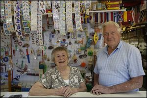 Elaine Smith, 79, and husband Willis, 81, say the best part of their business has been the customers. They have supplied hand-made games and amusements for schools, churches, and carnivals.