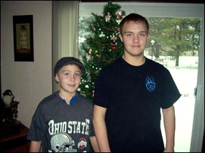 Blaine Romes, 14, and Blake Romes, 17, of Ottawa, Ohio.