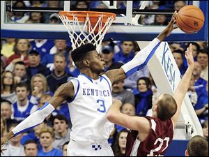 Kentucky's 6-foot-11 Nerlens Noel, who visited the Clevela