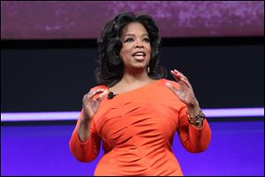 Oprah Winfrey presents at the OWN: Oprah Winfrey Network portion of the Discovery Communications Upfront at Jazz at Lincoln Center in New York.