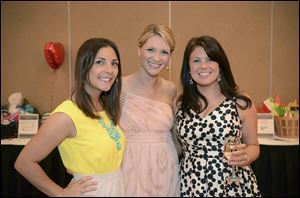 Left to Right, Danielle Tracy, Erin Parseghian, LLS Campaign Manager, and Lauren Tracy.