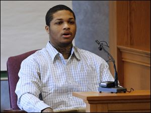James Moore testifies during the trial of Keshawn Jennings and Antwaine Jo