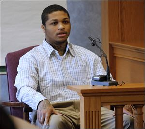 James Moore testifies during the trial of Keshawn Jennings and Antwaine Jones in Lucas County Common Pleas Court.