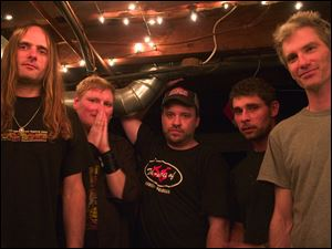 (L-R) Steve Smith, Bass/Eric Oblander, Vocals Harp/ Brad Coffin, Guitar/ Phil Durr, guitar /Ê Michael Horrigan, drums from the band