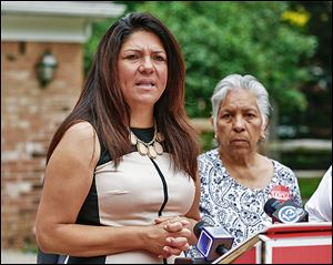 Anita Lopez, Democratic candidate for mayor of Toledo, discusses her personal finances at her south Toledo home, along with her mother, Minerva Lopez.