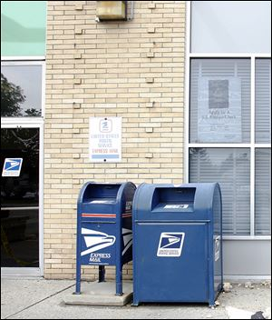 Postal Service mailboxes across Toledo will have new stickers showing the earlier deadlines for mail pickup, which start Tuesday.
