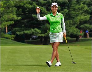 So Yeon Ryu waves to the crowd after finishing at 20-under par to win Jamie Farr Toledo Classic last year. She also won the 2011 U.S. Women's Open.