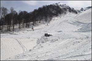 The Rosa Khutor Alpine resort in southwestern Russia will host the skiing competition at February's Winter Olympics. It is located in the Caucasus region, which has been rocked by a war by separatists.