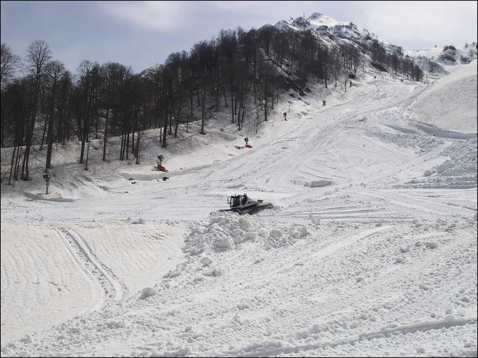 0001020500000000000 The Rosa Khutor Alpine resort in southwestern Russia will host the skiing competition at February's Winter Olympics. It is located in the Caucasus region, which has been rocked by a war by separatists.