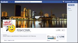 Screengrab of the 'Hiriing In Toledo' Facebook page.