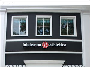 A Lululemon Athletica shop, shown in South Miami, is part of a Canadian chain that is to open a store on Louisiana Avenue in downtown Perrysburg next month. The company, which is traded on Nasdaq, suffered over a large recall of black yoga pants that were unintentionally see-through.