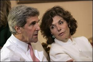 Teresa Heinz Kerry, the wife of U.S. Secretary of State John Kerry, is in critical but stable condition in a hospital in Nantucket, Mass.