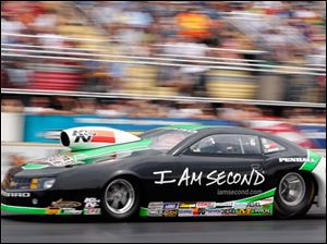 Mike Edwards wins the Pro Stock division during the Summit Racing Equipment Nationals.
