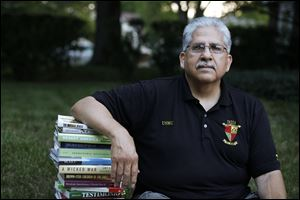 Manuel Caro, 66, of South Toledo says he has found healing through reading. His first therapist after Vietnam ignored his cultural background, he said.