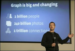 Facebook CEO Mark Zuckerberg speaks about the Facebook Graph Search feature at  the company's headquarters in Menlo Park, Calif.