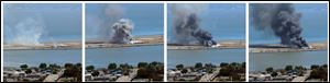 This combination of photos provided by Dawn Siadatan shows Asiana Airlines flight 214  just moments after crashing at the San Francisco International Airport, Saturday.