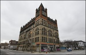 Pythian Castle at the corner of Jefferson Street and Ontario Street has been acquired by the Lucas County Land Bank.