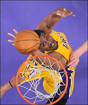 Andrew Bynum averaged 11.7 points and 7.8 rebounds in seven seasons with the Lakers.
