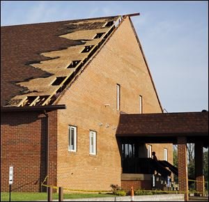 The Church on 53 sustained damage from the winds that swept through northwest Ohio. The church is just outside Fremont on State Rt. 53.