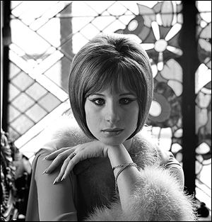 This 1964 portrait of Barbra Streisand was taken by fashion and celebrity photographer Milton H. Greene.