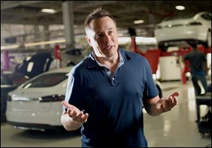 Elon Musk, co-founder and chief executive officer of Tesla Motors Inc.,  said the company is building electric sedans faster than its initial 400-a-week goal. The aim for late 2014 is 800 a week.