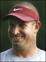 Rossford football coach Todd Drusback