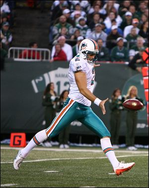 Brandon Fields has shown steady improvement as the Miami Dolphins punter, leading the league in average yards per kick last season.