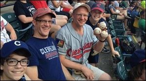 Greg Van Niel, a season-ticket holder who wasn't sitting in his usual seat, grabbed four foul balls Sunday.
