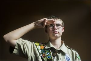 John Trecha, 14, said after he earned his first merit badge he set a goal of at least 100. He eventually went on to earn every badge the Boy Scouts offer.