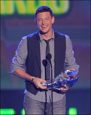 Cory Monteith speaks onstage during the 2012 Do Something awards in Santa Monica, Calif., in August, 2012.