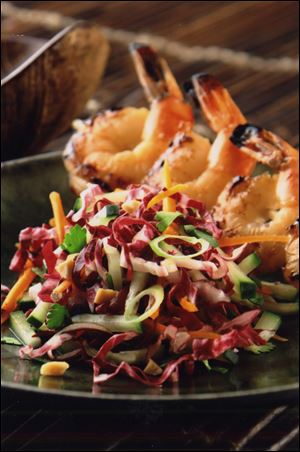 Bangkok slaw with radicchio
