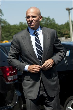 Brooklyn Nets coach Jason Kidd arrives at Southampton Town Court today in Hampton Bays, N.Y.
