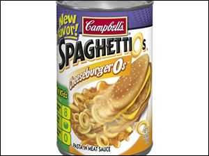 CheeseburgerOs, the latest flavor in the SpaghettiOs line-up.