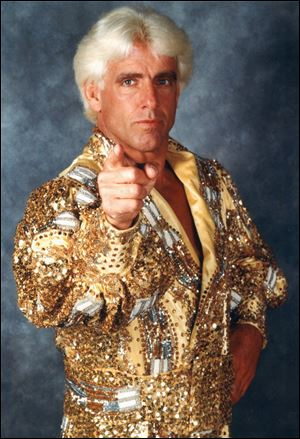 Former wrestler Ric ``Nature Boy'' Flair shown here in past glory.