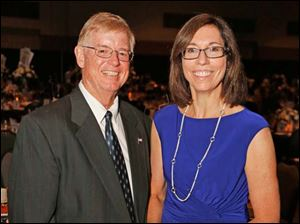 Sylvania Mayor Craig Stough and his wife Barbara at the Marathon Classic Gala at the SeaGate Centre.